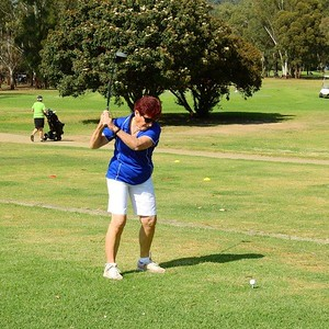 Elaine Williams (Dunheved GC_ in action at Leonay GC in the final round of the 2019 WSRVGA Inter-Club Competition Western News 8th November, 2019
