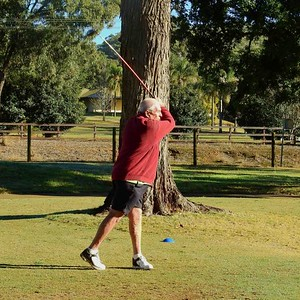 Brian Holland (Richmond GC) at Glenmore HVGC during the WSRVGA Inter-Club event. Australian Senior Golfer 25th June, 2019
