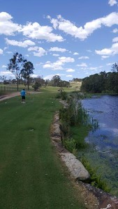 View from the tee on the 5th hole at Wallacia Golf Club Penrith City Gazette 9th November, 2017