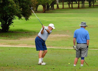 John Hope in action during the Leonay GC Christmas Four-Person Ambrose event Australian Senior Golfer 17th December, 2018