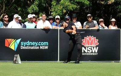 2021 Golf Challenge NSW Open Champion Bryden Macpherson tees off at the start of his final round at Concord GC Nepean News 2nd April, 2021
