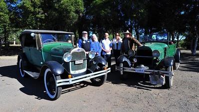 1929 Model A Ford, Col Bootle, Lyn Forde, Alex Karavas, Sue Fryer, Bernie Learson, 1928 Model A Ford Western News 16th August, 2019