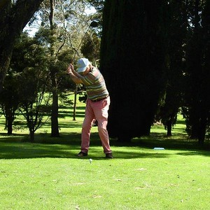 Action on the tee during the 38th Annual Blue Mountains Veterans Week of Golf Australian Senior Golfer 1st March, 2021