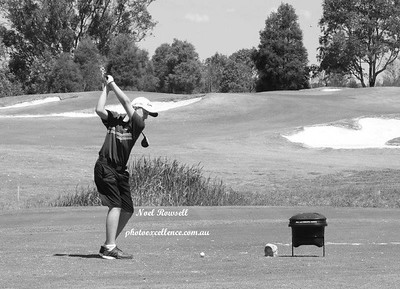 Coby Carruthers (Leonay GC) in action during the 2017 NSW Golf Open Junior Pro-Am at Twin Creeks in November. Jordan Springs Gazette December edition, 2017