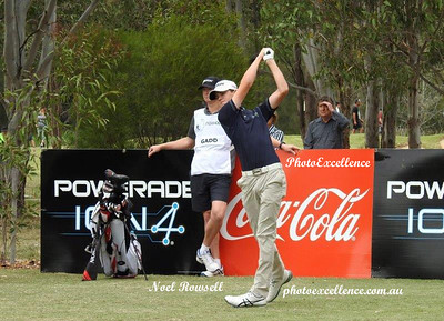 Penrith's Joshua Gadd tees of in the 2017 NSW Golf Open at Twin Creeks Nepean News 23rd November, 2017