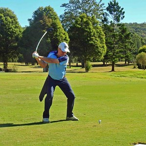 Ian Gribble (Leonay GC) in action during the June WSRVGA Inter-Club event at Glenmore Heritage Valley GC Nepean News 4th July, 2019