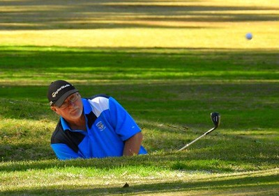 Ray Forster (Penrith GC) in action during the WSRVGA Inter-Club event at Leonay GC on 24th July, 2018 Nepean News 2nd August, 2018