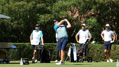 Troy Moses tees off in the first round of the 2021 Golf Challenge NSW Open at Concord GC Nepean News 2nd April, 2021