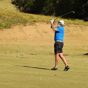 Garry Smith (Richmond GC) in action at Glenmore Heritage Valley GC during Round 1 of the 2019 Super Seniors Pennants. Hawkesbury Gazette 14th August, 2019