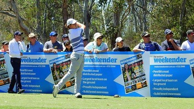 2018 NSW Golf Open Winner Jake McLeod in action on the Western Weekender-sponsored third hole on Day Four. Western Weekender Instagram - 12th November, 2018 FRONT PAGE SPORT - Print Edition 15th November, 2018