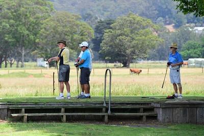 Action at the 2019 Seaside & Valley Vets Golf Tournament at Kiama GC & Jamberoo GC. Australian Senior Golfer 3rd February, 2020