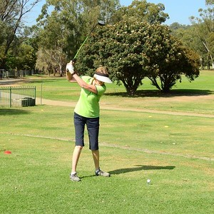 Kris Douglas (Richmond GC) in action at Leonay GC in the final round of the 2019 WSRVGA Inter-Club Competition Hawkesbury Gazette 6th November, 2019