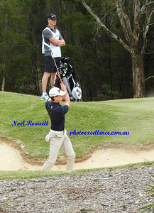 Penrith's Joshua Gadd in action at the 2017 NSW Golf Open at Twin Creeks Western Weekender 14th December, 2017
