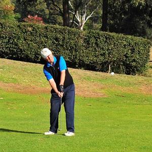 Chris Evans (Richmond GC) in action prior to Round One of 2019 NSW Super Seniors Pennants Australian Senior Golfer 13th August, 2019