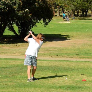 NSWVGA State Medal winner Sue Evers in action at Leonay GC in the final round of the 2019 WSRVGA Inter-Club Competition Blue Mountains Gazette on-line 7th November, 2019 BMG Print Edition 12th November, 2019