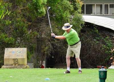 WSRVGA Male PLAYER OF THE YEAR Jim Lyons (Richmond GC) in action during the WSRVGA Inter-Club event at Glenmore Heritage Valley GC in November. Hawkesbury Gazette - 14th November, 2018