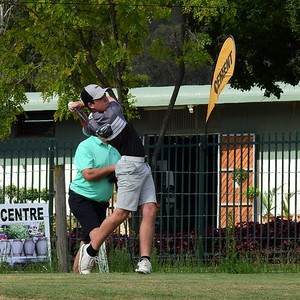 Ryan Cadle (Stonecutters Ridge GC) in action during the 2021 Glenmore Cup Western News 16th April, 2021