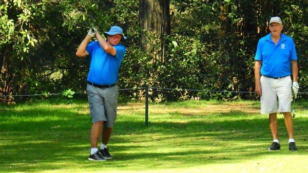 Ian Forrester (Penrith GC) in action at Springwood Country Club during the April round of the 2018 WSRVGA Inter-Club competition. Nepean News 26th April, 2018