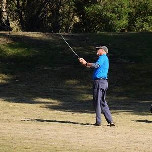 Alan Wilson (Richmond GC) in action during Round One of 2019 NSW Super Seniors Pennants Australian Senior Golfer 13th August, 2019