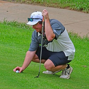 Ben McArdle (Leonay GC) in action during the 2020 Golf NSW Major Pennant competition. Nepean News 20th February, 2020