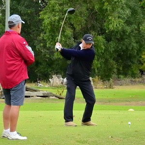 Perry Dixon  (Springwood CC) in action during the WSRVGA Inter-Club event at Dunheved Golf Course. Blue Mountains Gazette On-line edition 27th June, 2018 Print Edition 4th July, 2018