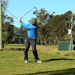 Bob Chruszcz (Leonay GC) in action during the WSRVGA Inter-Club at Richmond GC in July. Nepean News 1st August, 2019
