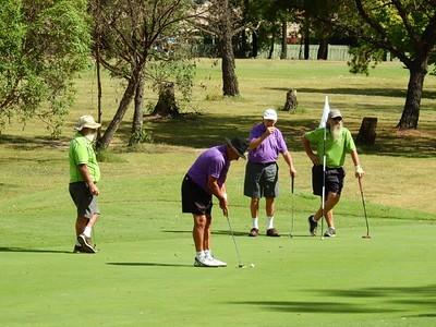 Garnie Leard (Richmond), Bill Leydecker (Glenmore), Richard Doyle (Richmond), Garry Smith (Richmond) at Penrith GC in the first round of the 2019 WSRVGA Inter-Club Competition Australian Senior Golfer - 21st February, 2019