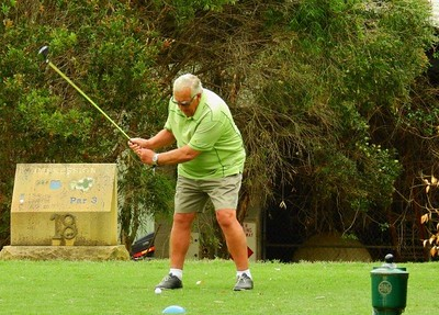 Noel Byles (Richmond GC) in action during the WSRVGA Inter-Club event at Glenmore Heritage Valley GC in November. Finished in third spot in Male Player of the Year rankings. Hawkesbury Gazette 14th November, 2018