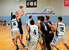 Jarrod Sorenson hits a baby hook shot amidst a swarm of players<br /> Blue Mountains Gazette<br /> 4th March, 2015