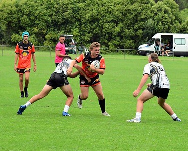 Action from the Blacktown Red Belly Warriors Knockout Rugby League tournament in St Marys, NSW U17 Boy's Final BRBW vs Newcastle Hawks Nepean News 12th February, 2021