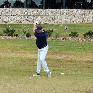 Anthony Hunter (Penrith GC) in action during the 2021 Golf NSW Master Pennant competition Nepean News 25th June, 2021