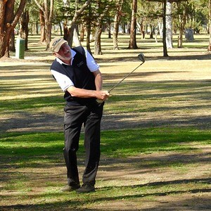 Richard Paynter (Springwood CC) in action during the WSRVGA Inter-Club event at Leonay GC on 24th July, 2018 Western Weekender 3rd August, 2018
