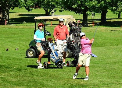 Mabel (Mei) McCormick in action at the 35th Annual Blue Mts Week of Golf Nepean News 15th March, 2018
