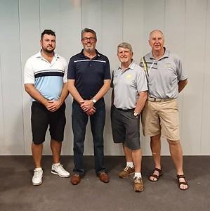 Andrew Carruthers, Reece Johnstone, Brendan McKeown & Gary Murphy - Div 1 and Div 2 Foursomes Match-Play Champions Australian Senior Golfer 23rd September, 2019