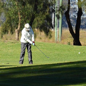 Elizabeth Paynter (Springwood CC) in action during the WSRVGA Inter-Club at Richmond GC in July. Blue Mts Gazette 31st July, 2019