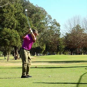 Mick Reilly (Glenmore Heritage Valley CC) in action during the WSRVGA Inter-Club at Richmond GC in July. Nepean News 1st August, 2019