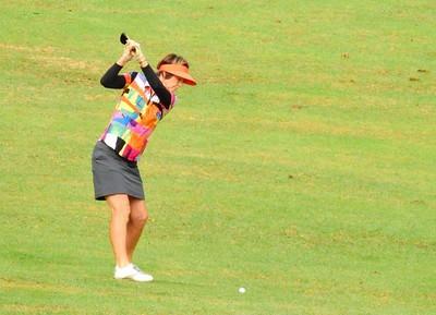 Sharon Blake (Kiama GC) in action at the 35th Annual Blue Mts Week of Golf Australian Senior Golfer Magazine 7th March, 2018