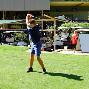 Leonay GC junior representative Coby Carruthers finished in a tie for first place in the Harvey Norman Week of Golf 13 year age group - 2nd after playoff Nepean News 17th January, 2019