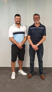 Andrew Carruthers & Reece Johnstone - Leonay GC Division One Foursomes Match-Play Champions, 2019 Jordan Springs Gazette October edition, 2019