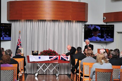 Funeral Service for Desmond Victor Harper AM, which was held at Pinegrove Memorial Park on 22nd June, 2021 Nepean News 25th June, 2021