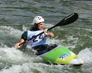 Daniel Watkins in action at the Penrith Whitewater Stadium Nepean News 2nd April, 2021