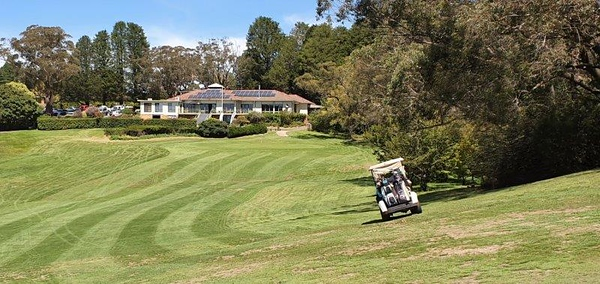 View from the 18th fairway of Blackheath GC Clubhouse Australian Senior Golfer 2nd March, 2020