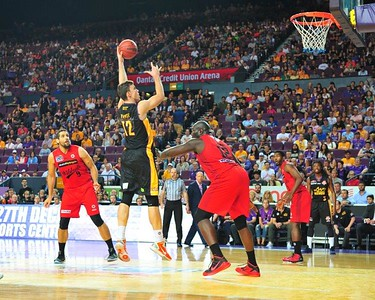 Angus Brandt in action with the Sydney Kings in 2016.  Nepean News 25th June, 2021