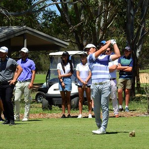 2018 NSW Golf Open champion Jake McLeod in action off the tee Nepean News 26th March, 2021