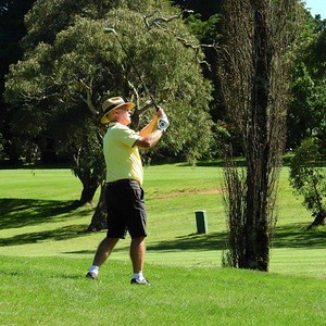 Ian Bruce Baker in action at Wentworth Falls CC during the 38th Annual Blue Mountains Veterans Week of Golf Australian Senior Golfer 1st March, 2021