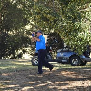 Richmond GC team captain Frank Gal in action during Round One of 2019 NSW Super Seniors Pennants Australian Senior Golfer 13th August, 2019