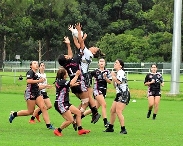 Action from the Blacktown Red Belly Warriors Knockout Rugby League tournament in St Marys, NSW Women's Final: Redfern All Blacks vs Newcastle Hawks BACK PAGE FEATURE - Western News 19th February, 2021