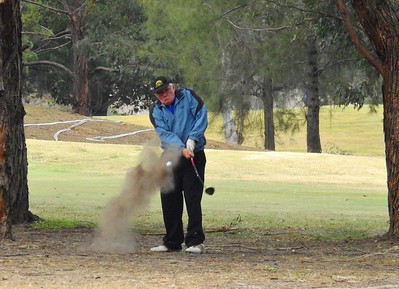 James Lazarus (Dunheved GC) in action at the WSRVGA Inter-Club event at Penrith GC Australian Senior Golfer 28th May, 2018