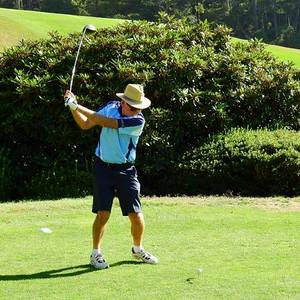 Bob Chruszcz (Leonay GC) in action at Blackheath GC during the 2018 Blue Mountains VGA Week of Golf Australian Senior Golfer 14th February, 2019