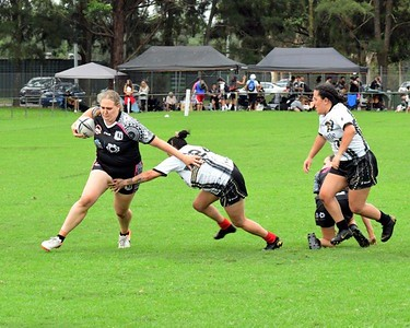 Action from the Blacktown Red Belly Warriors Knockout Rugby League tournament in St Marys, NSW Women's Final: Redfern All Blacks vs Newcastle Hawks. Nepean News 12th February, 2021
